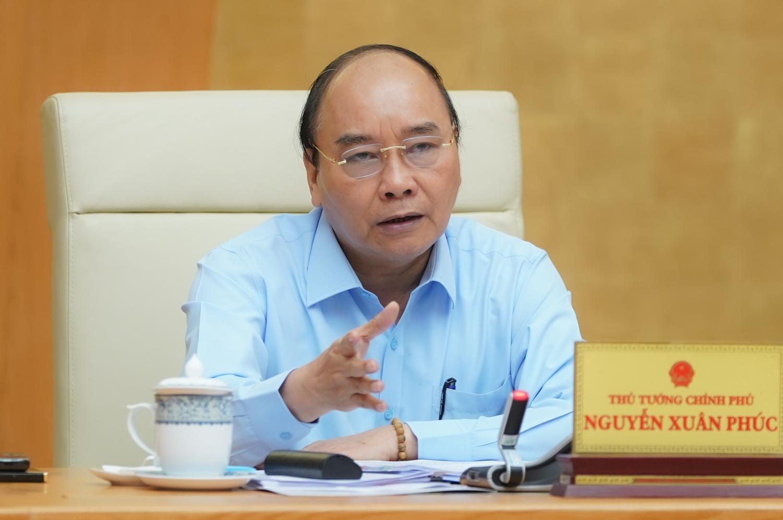Thủ tướng Nguyễn Xuân Phúc phát biểu chỉ đạo tại cuộc họp. Ảnh: VGP/Quang Hiếu